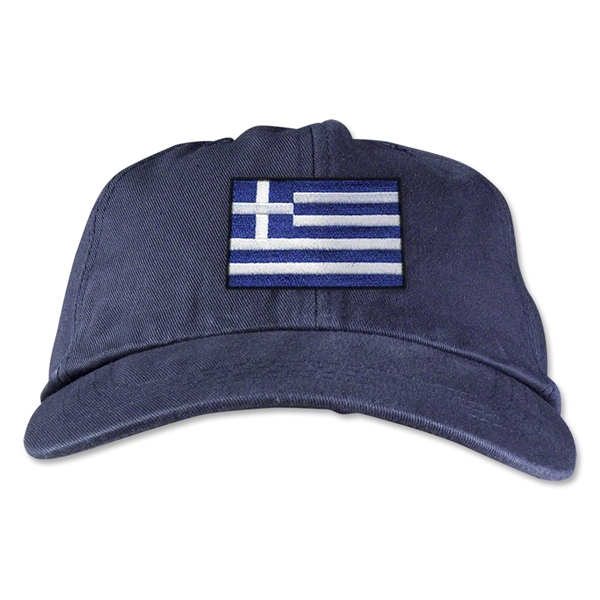 Greece Unstructured Adjustable Cap (Navy)