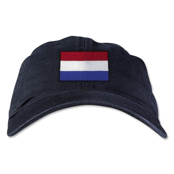Netherlands Unstructured Adjustable Cap (Black)