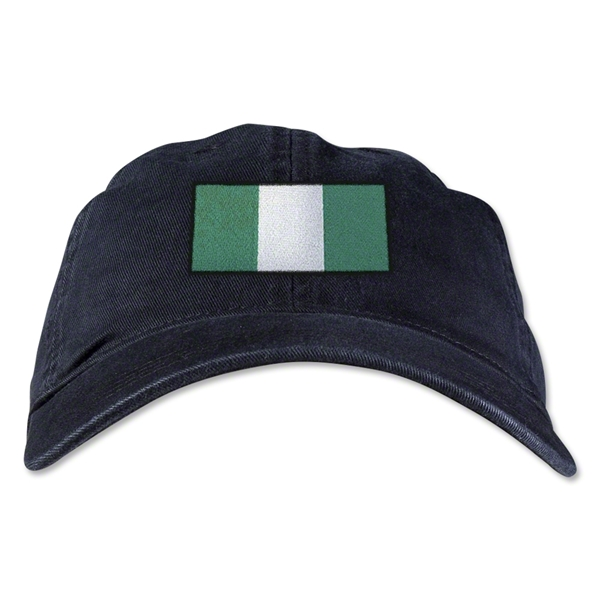 Nigeria Unstructured Adjustable Cap (Black)