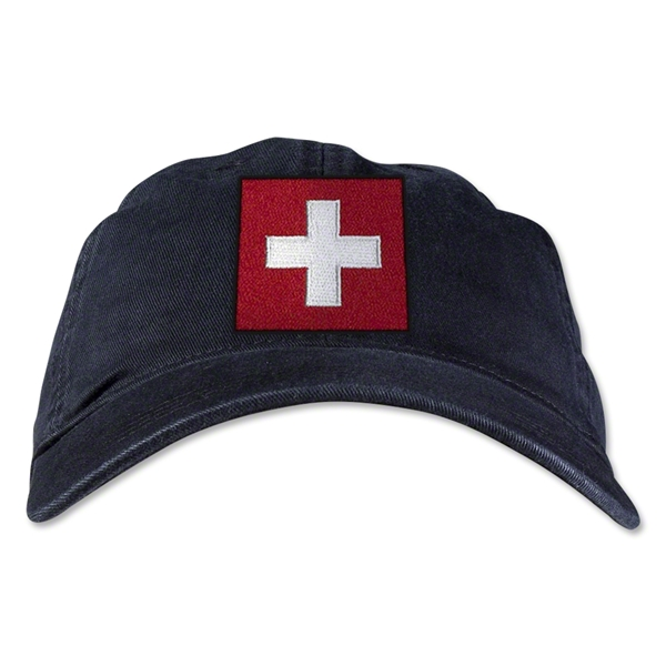 Switzerland Unstructured Adjustable Cap (Black)