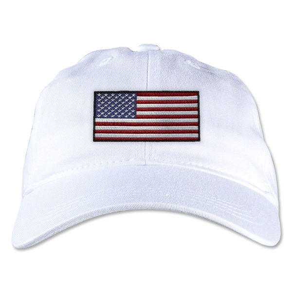USA Unstructured Adjustable Cap (White)