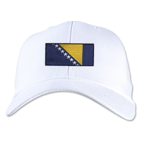 Bosnia-Herzegovina Flexfit Cap (White)