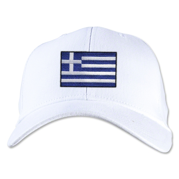 Greece Flexfit Cap (White)