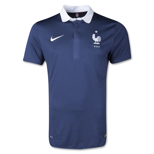 France 2014 Authentic Home Soccer Jersey
