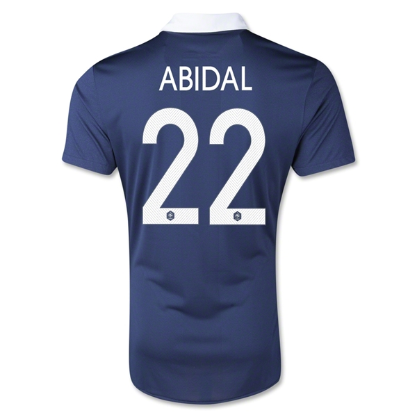 France 2014 ABIDAL Authentic Home Soccer Jersey