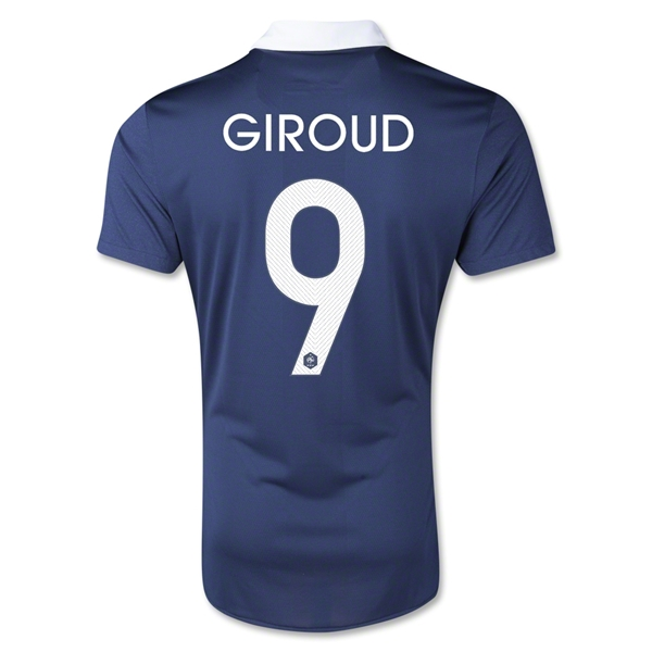 France 2014 GIROUD Authentic Home Soccer Jersey