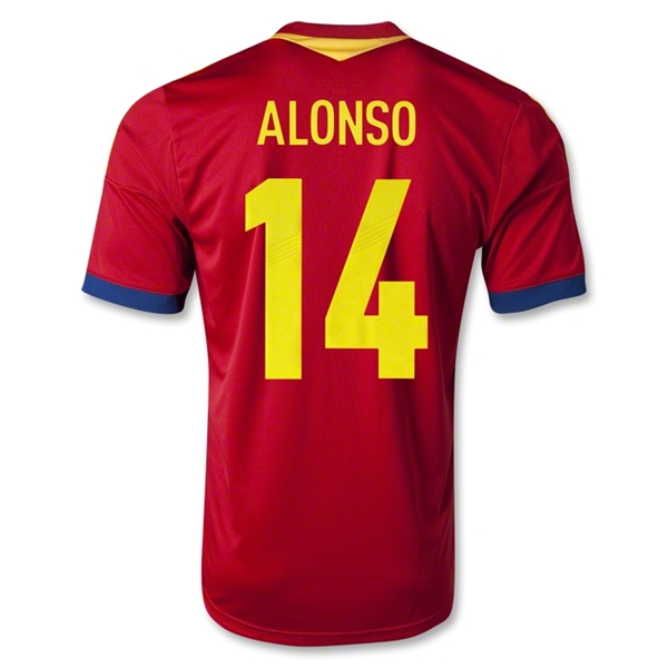 Spain 2013 ALONSO Home Soccer Jersey