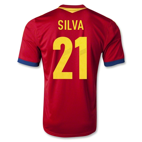 Spain 2013 SILVA Home Soccer Jersey