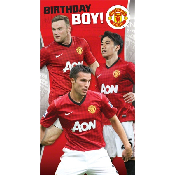 Manchester United Birthday Boy Card