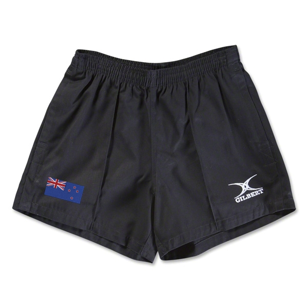 New Zealand Flag Kiwi Pro Rugby Shorts (Black)