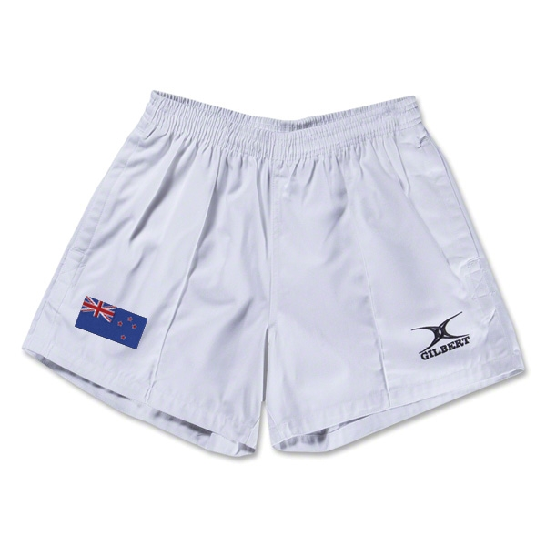 New Zealand Flag Kiwi Pro Rugby Shorts (White)