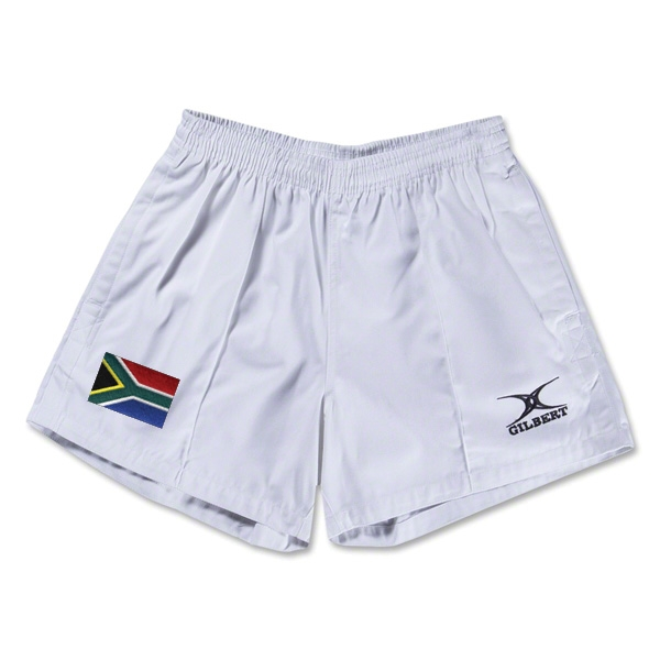South Africa Flag Kiwi Pro Rugby Shorts (White)