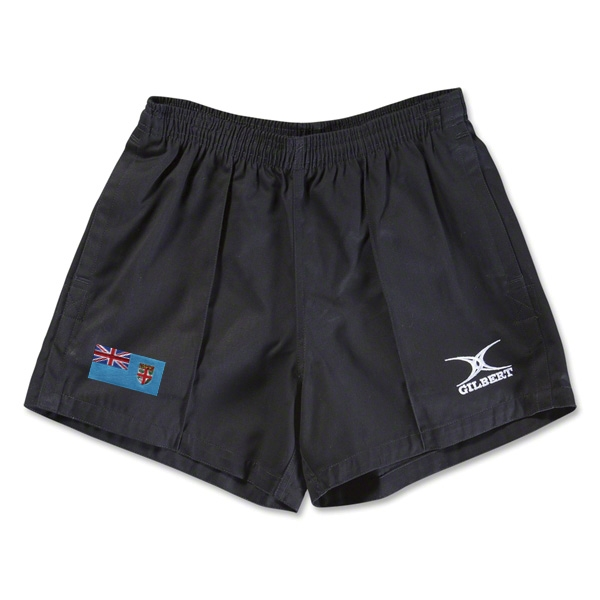 Fiji Flag Kiwi Pro Rugby Shorts (Black)