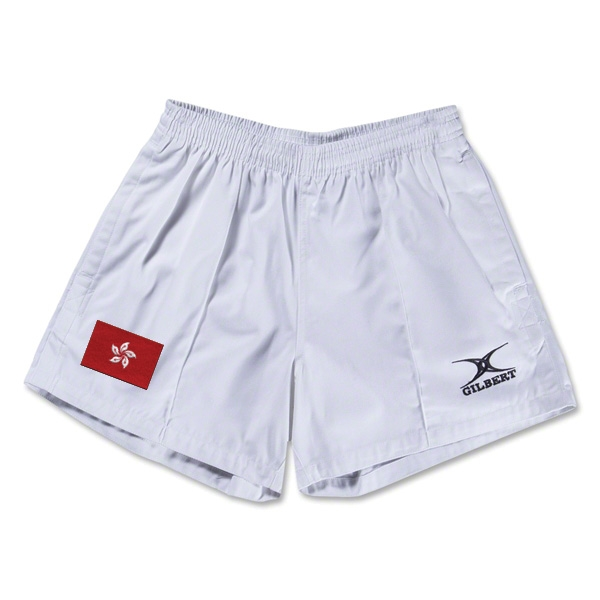 Hong Kong Flag Kiwi Pro Rugby Shorts (White)