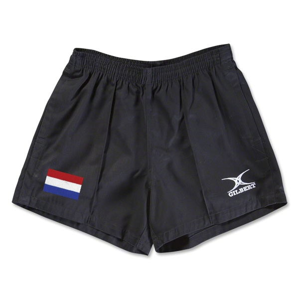 Netherlands Flag Kiwi Pro Rugby Shorts (Black)