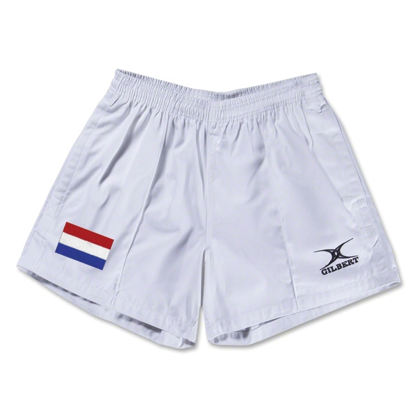 Netherlands Flag Kiwi Pro Rugby Shorts (White)