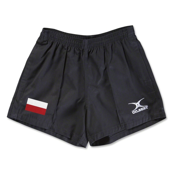 Poland Flag Kiwi Pro Rugby Shorts (Black)