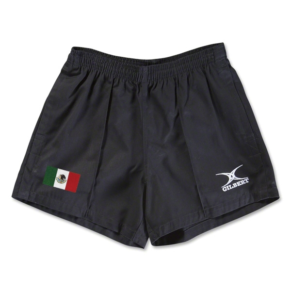Mexico Flag Kiwi Pro Rugby Shorts (Black)