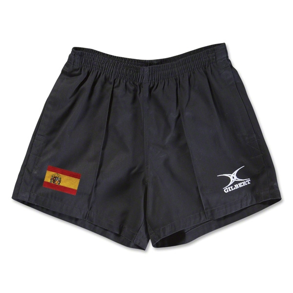 Spain Flag Kiwi Pro Rugby Shorts (Black)