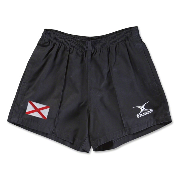 Alabama Flag Kiwi Pro Rugby Shorts (Black)