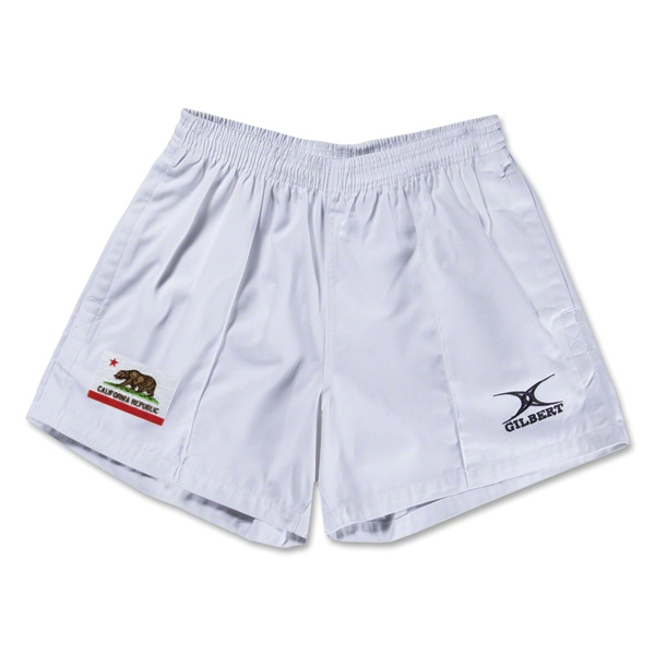 California Flag Kiwi Pro Rugby Shorts (White)