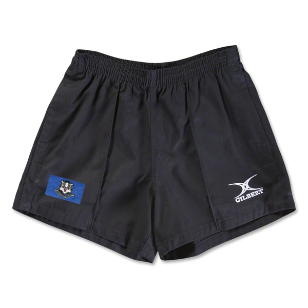 Connecticut Flag Kiwi Pro Rugby Shorts (Black)
