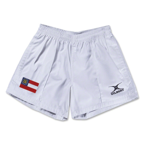 Georgia Flag Kiwi Pro Rugby Shorts (White)