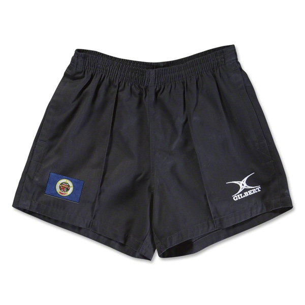 Minnesota Flag Kiwi Pro Rugby Shorts (Black)