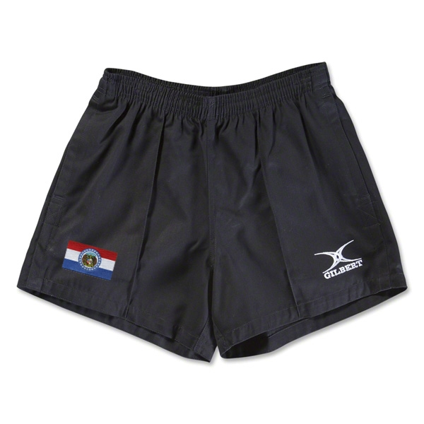 Missouri Flag Kiwi Pro Rugby Shorts (Black)