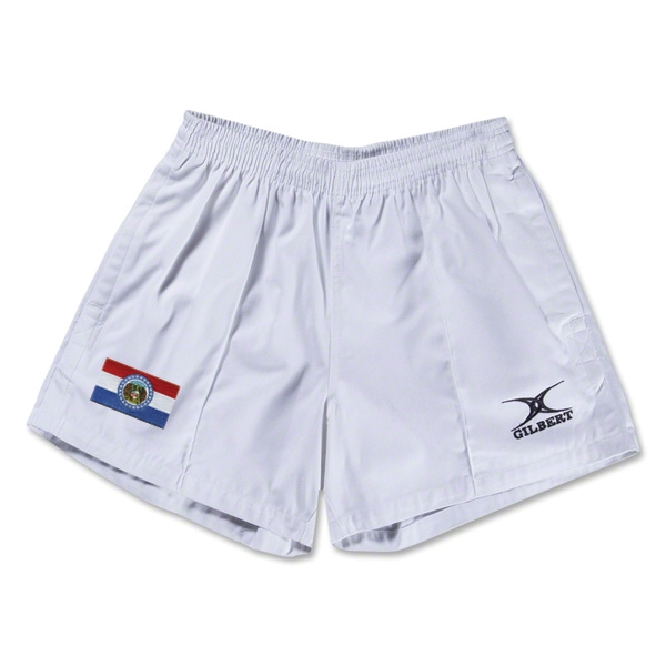 Missouri Flag Kiwi Pro Rugby Shorts (White)