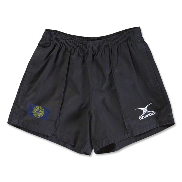 Nebraska Flag Kiwi Pro Rugby Shorts (Black)