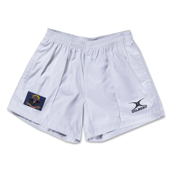 North Dakota Flag Kiwi Pro Rugby Shorts (White)