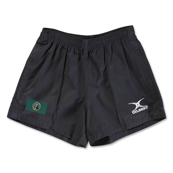 Washington Flag Kiwi Pro Rugby Shorts (Black)