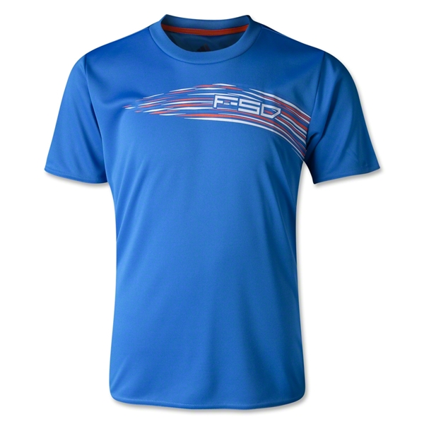 adidas F50 Youth Poly T-Shirt (Blue)