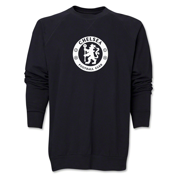 Chelsea Emblem Crewneck Fleece (Black)