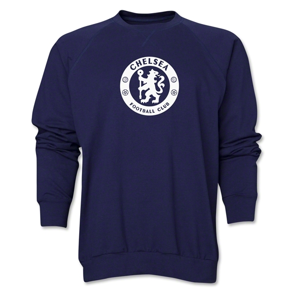 Chelsea Emblem Crewneck Fleece (Navy)