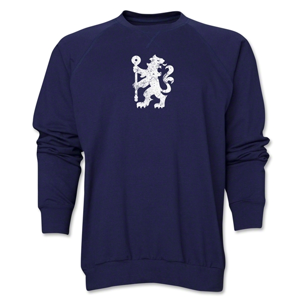 Chelsea Distressed Lion Crewneck Fleece (Navy)