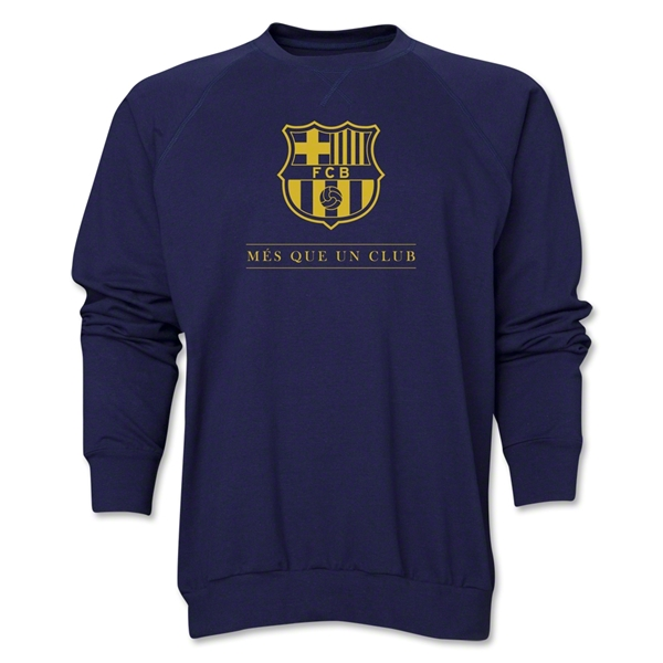 Barcelona Mes Que Un Club Crewneck Fleece (Navy)