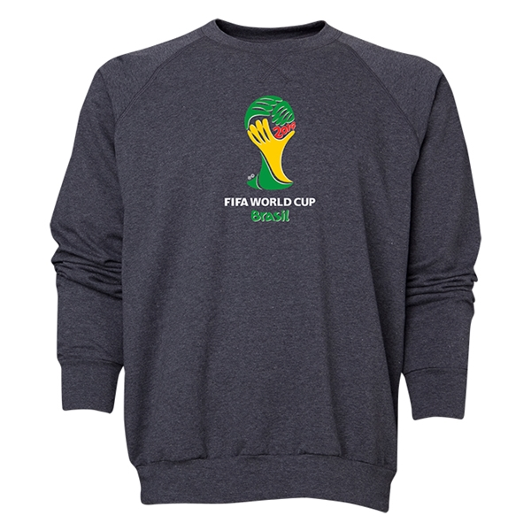 2014 FIFA World Cup Brazil(TM) Men's Official Emblem Crewneck Sweatshirt (Dark Grey)
