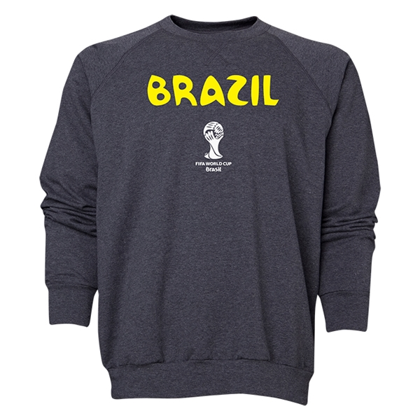 Brazil 2014 FIFA World Cup Brazil(TM) Men's Core Crewneck Sweatshirt (Dark Grey)