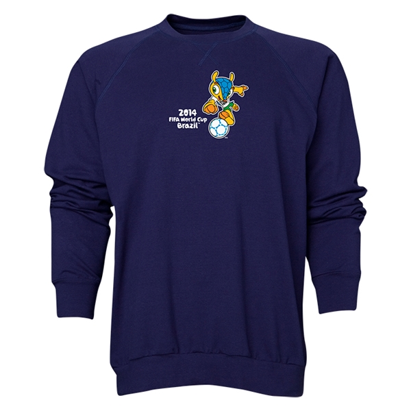 2014 FIFA World Cup Brazil(TM) Men's Official Mascot Crewneck Sweatshirt (Navy)