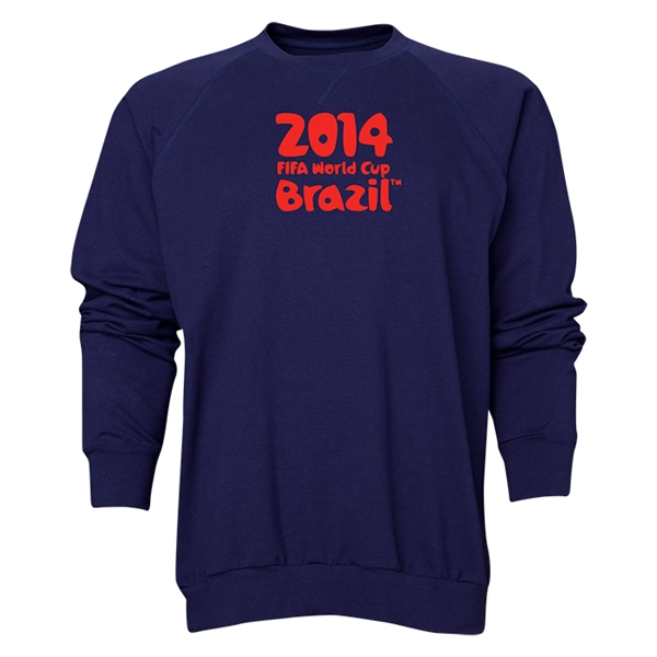 2014 FIFA World Cup Brazil(TM) Men's Official Logotype Crewneck Sweatshirt (Navy)
