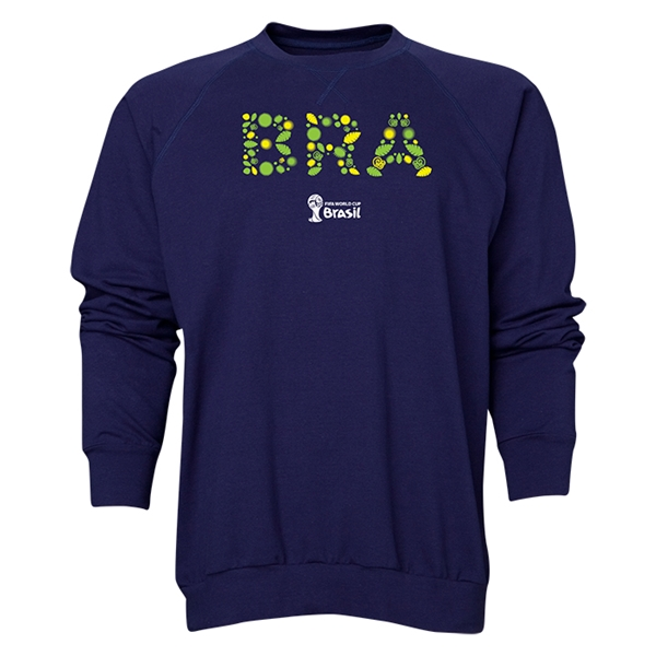 Brazil 2014 FIFA World Cup Brazil(TM) Men's Elements Crewneck Sweatshirt (Navy)