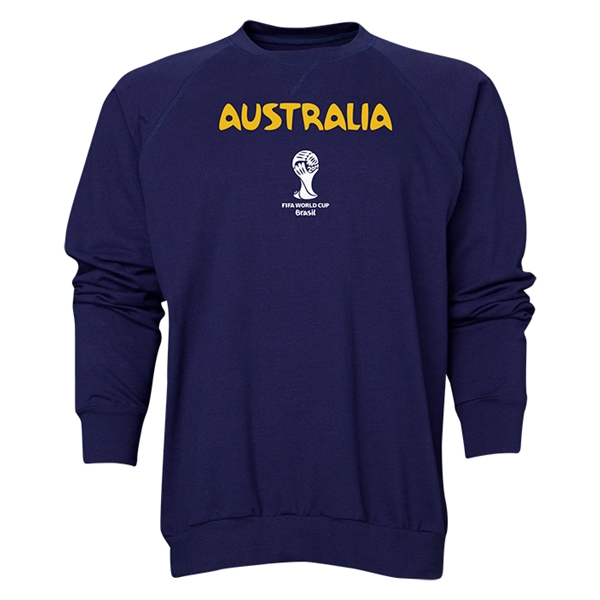 Australia 2014 FIFA World Cup Brazil(TM) Men's Core Crewneck Sweatshirt (Navy)