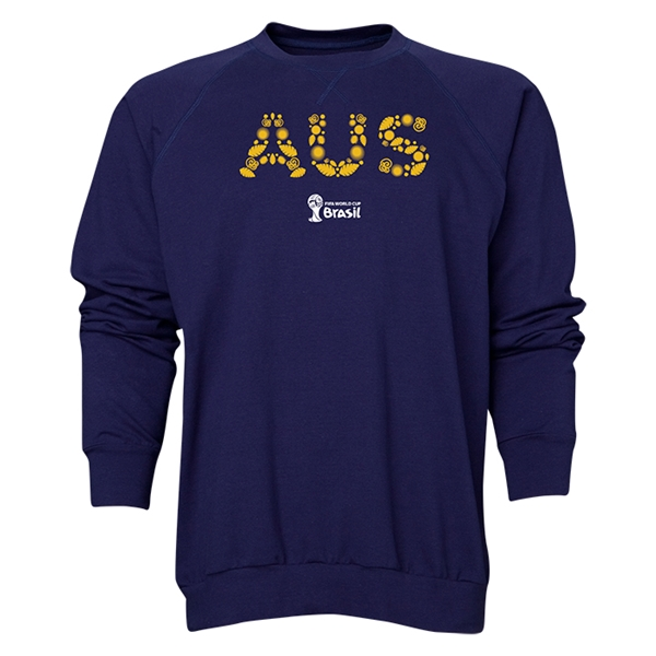 Australia 2014 FIFA World Cup Brazil(TM) Men's Elements Crewneck Sweatshirt (Navy)