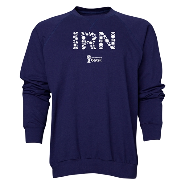 Iran 2014 FIFA World Cup Brazil(TM) Men's Elements Crewneck Sweatshirt (Navy)