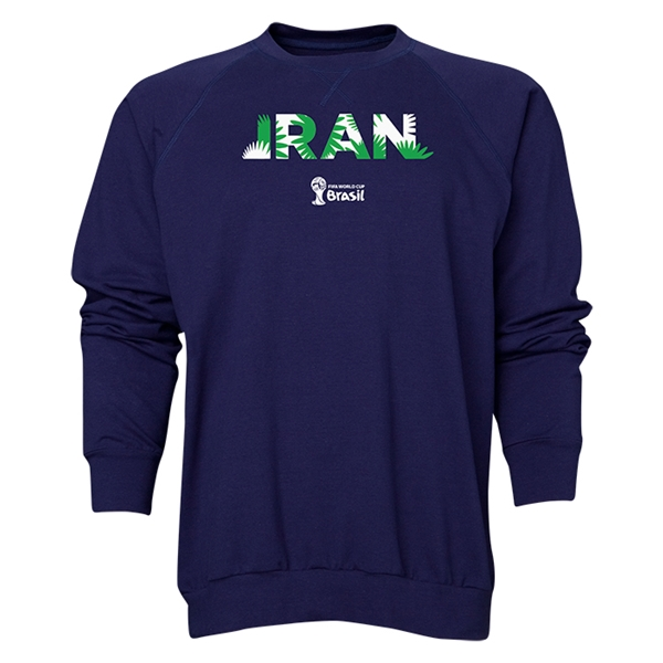 Iran 2014 FIFA World Cup Brazil(TM) Men's Palm Crewneck Sweatshirt (Navy)
