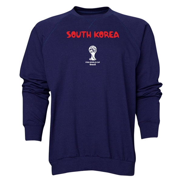 South Korea 2014 FIFA World Cup Brazil(TM) Men's Core Crewneck Sweatshirt (Navy)