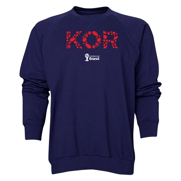 South Korea 2014 FIFA World Cup Brazil(TM) Men's Elements Crewneck Sweatshirt (Navy)