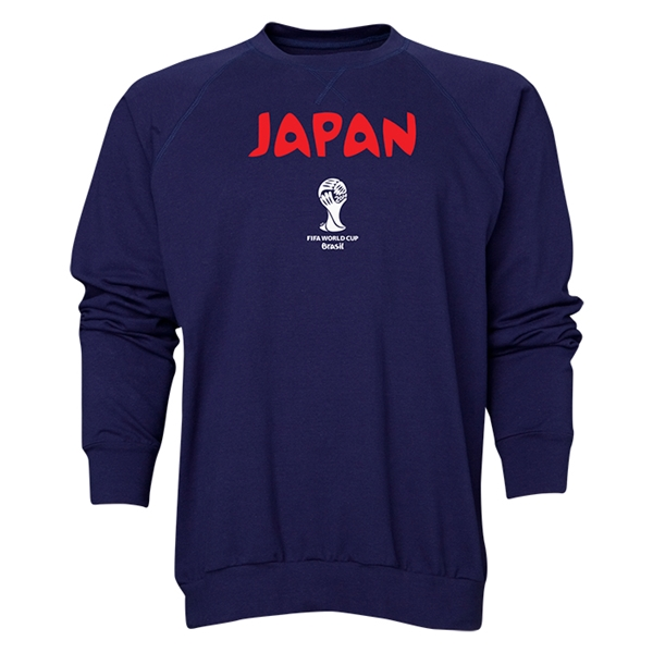 Japan 2014 FIFA World Cup Brazil(TM) Men's Core Crewneck Sweatshirt (Navy)